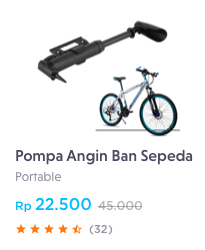pompa angin ban sepeda