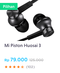 mi piston earphone