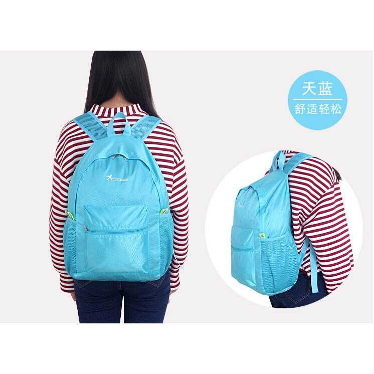 Tas Ransel Lipat Travel Portable Backpack