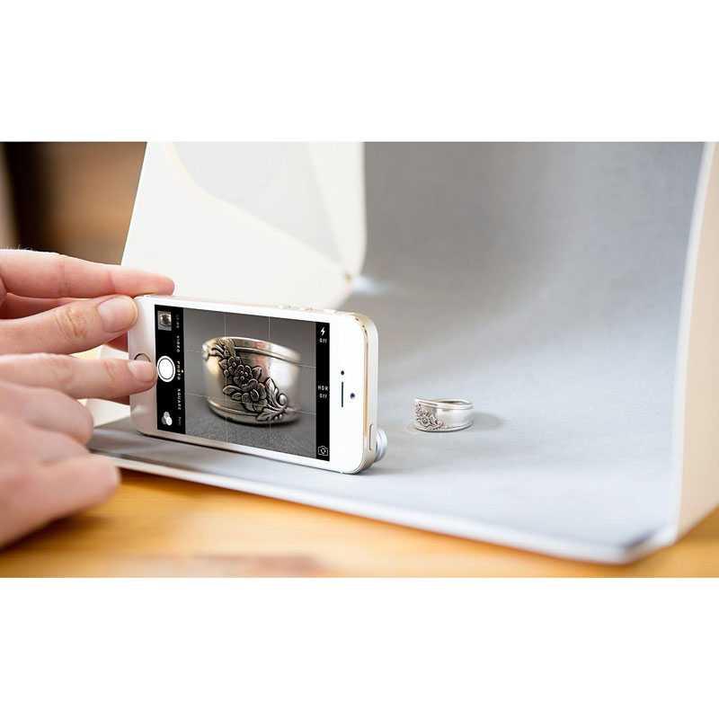 Photo Studio Mini Magnetic dengan Lampu LED