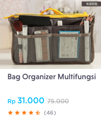 bag organizer multifungsi