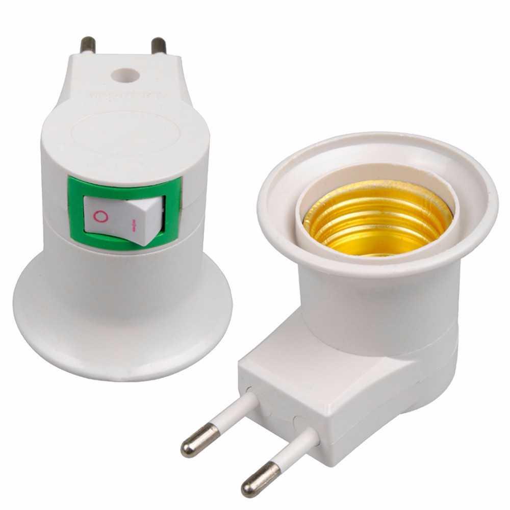 Jual Fitting E27 Lampu Bohlam Portable Eu Plug Cara Wiring Rumah