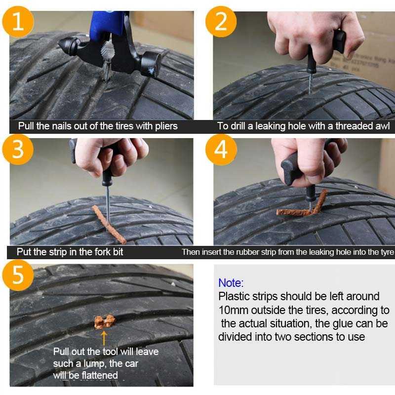 Alat Tambal Ban Tubeless Set Mobil dan Motor