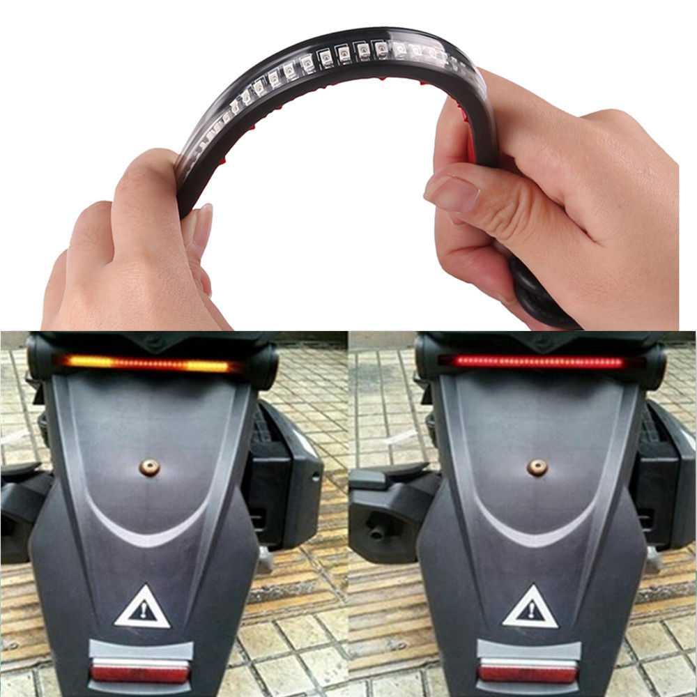 Lampu LED Strip Indikator Rem dan Sein Sepeda Motor
