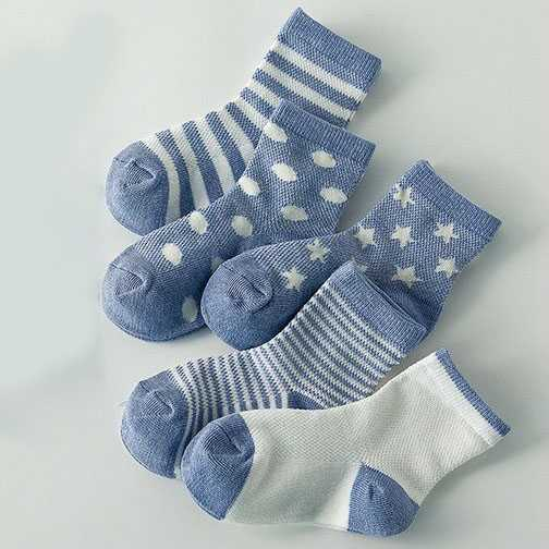 Kaos Kaki Anak Summer Toddler Socks - 5 Pair