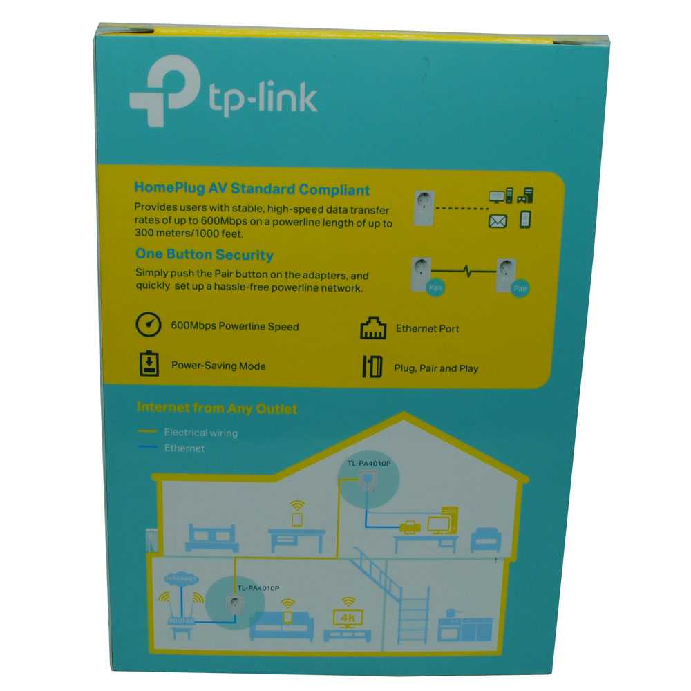 TP-LINK AV600 Powerline Adapter with AC Pass Through - TL-PA4010PKIT