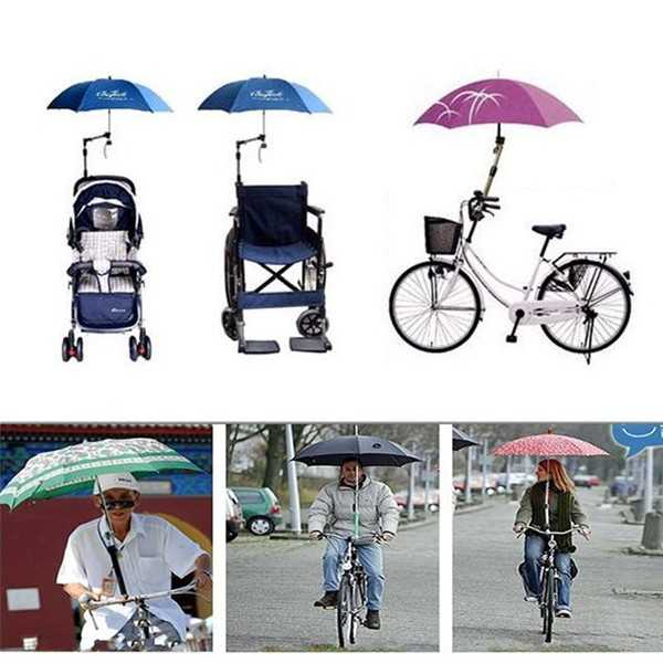 Holder Payung Multifungsi – Penyangga Payung Keren untuk Sepeda, Stroller Bayi, dan Kursi Roda