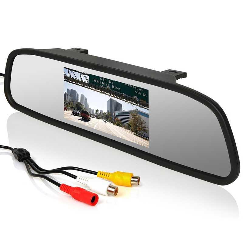 Kaca Spion Rear View Mirror Digital Video Car Recorder 480P 4.3 Inch