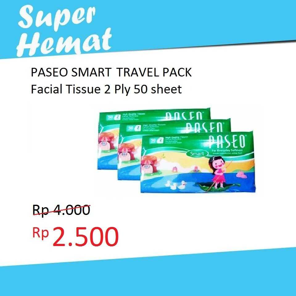 Facial Tissue Tisu Wajah Paseo Smart 250 Sheets X 4 Pack Daftar Original Tessa 2 Ply Jual Travel 50 Jakmall Com