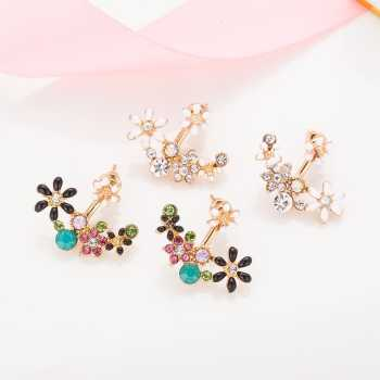 p asp colour cuff stud ekm earring antique hanging