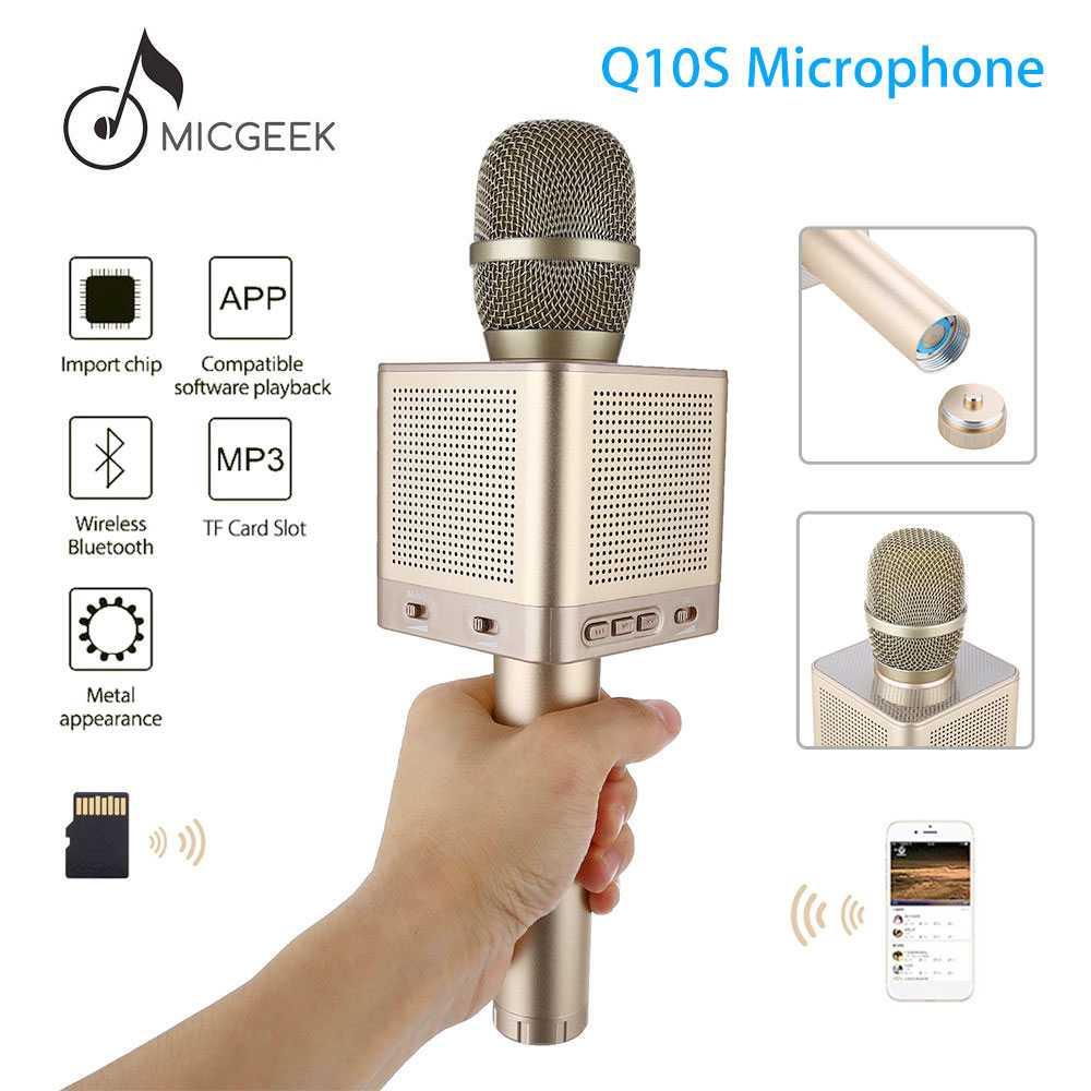 Jual Micgeek Mic Karaoke Speaker Bluetooth Q10s Kabel Cina