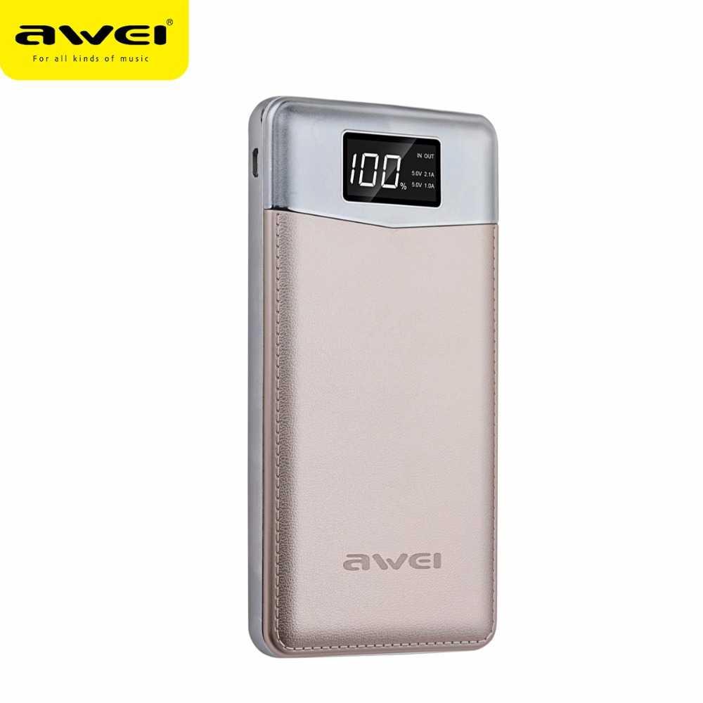Awei Power Bank 2 Port 10000mAh - P30K
