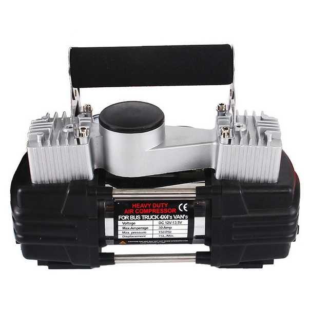 Jual Pompa Ban Mobil Heavy Duty Air Compressor 12V 150 PSI - | Jakmall.com