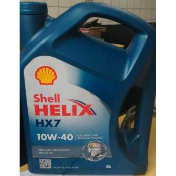 Oli SHELL HX7 10W 40 GALON 4 LITER