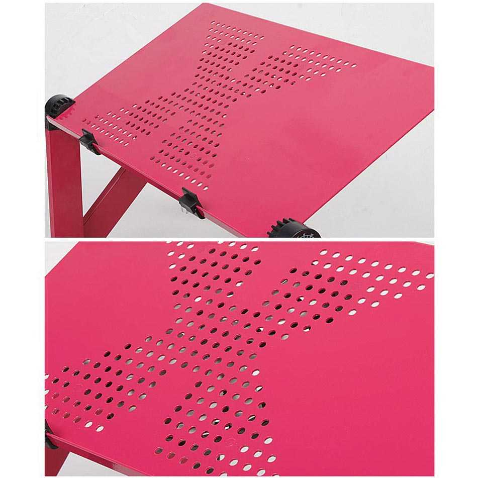 Meja Laptop Portable Table with Mouse Desk Length 42 x 26 cm