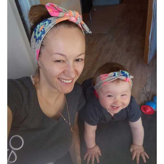Bando Bayi dan Ibu Newborn Lucu Model Rabbit Ear 2PCS