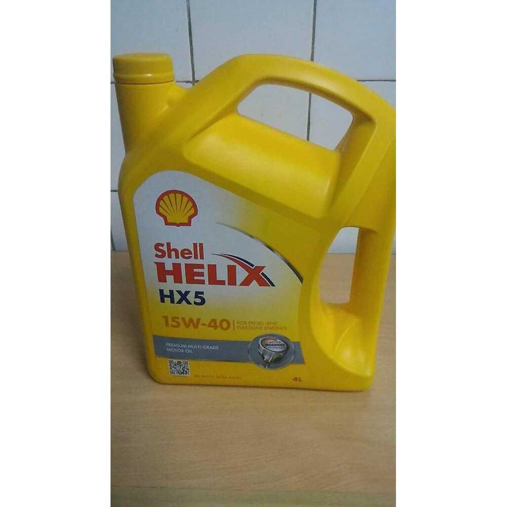OLI SHELL HX5 15W 50 GALON 4 LITER