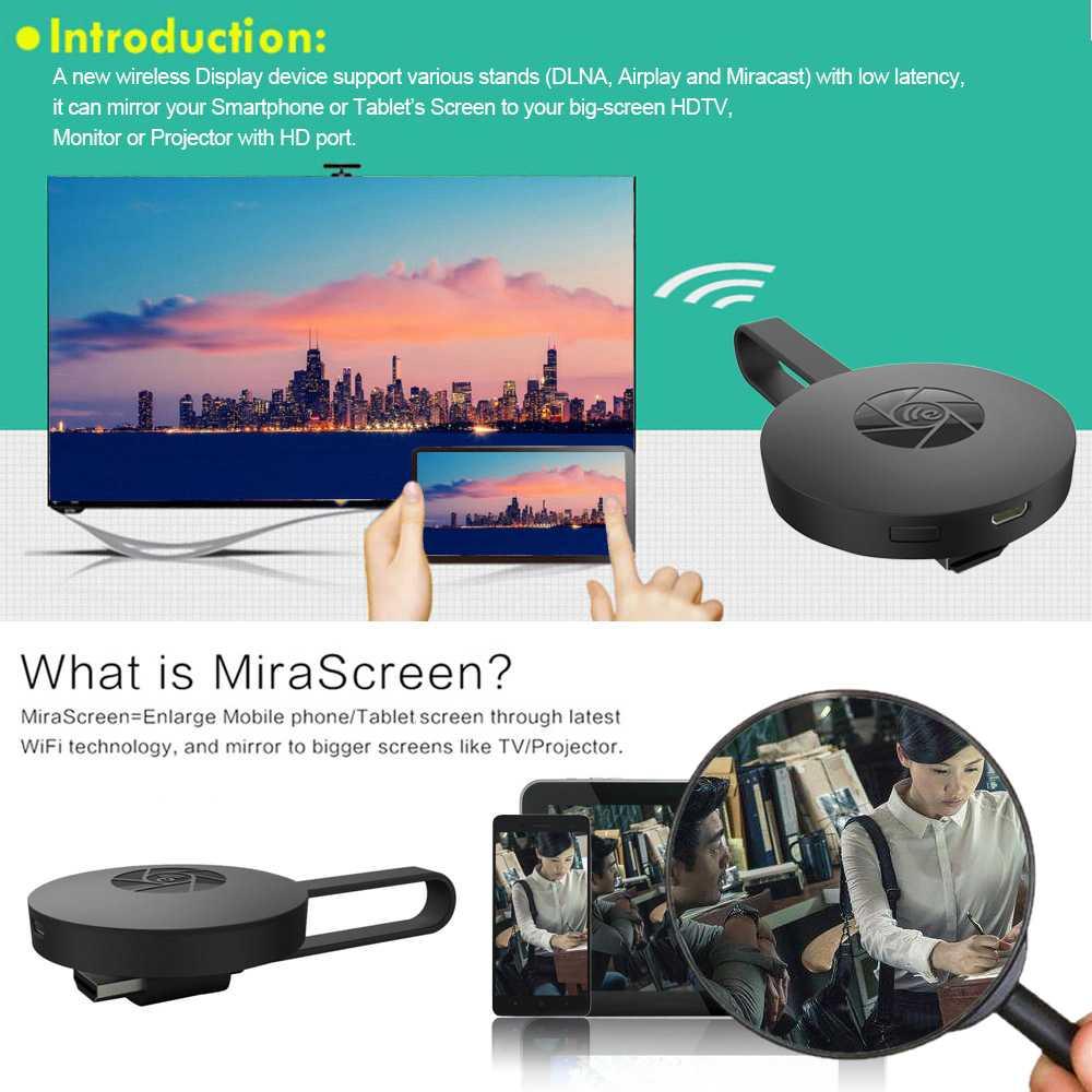 MiraScreen G2 WiFi Display Dongle Full HD 1080P