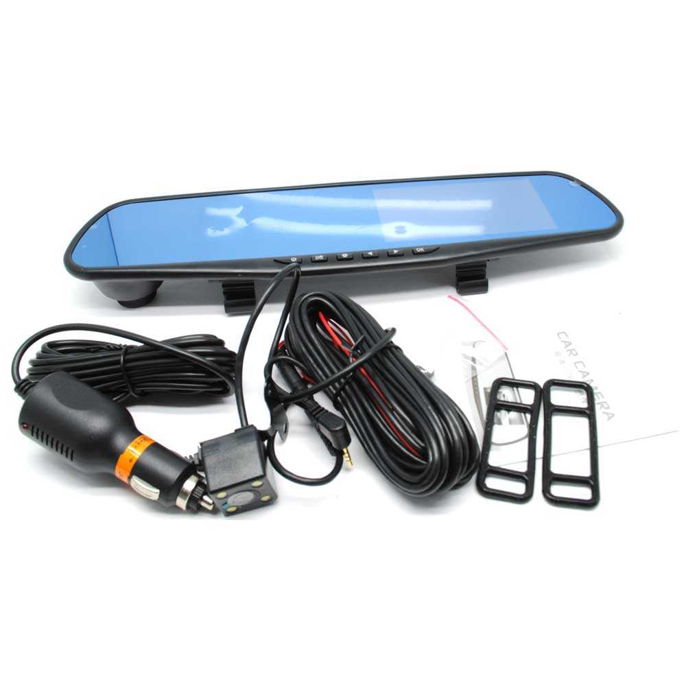 Kaca Spion Rear View DVR Dual Kamera 1080P 4.3 Inch Display