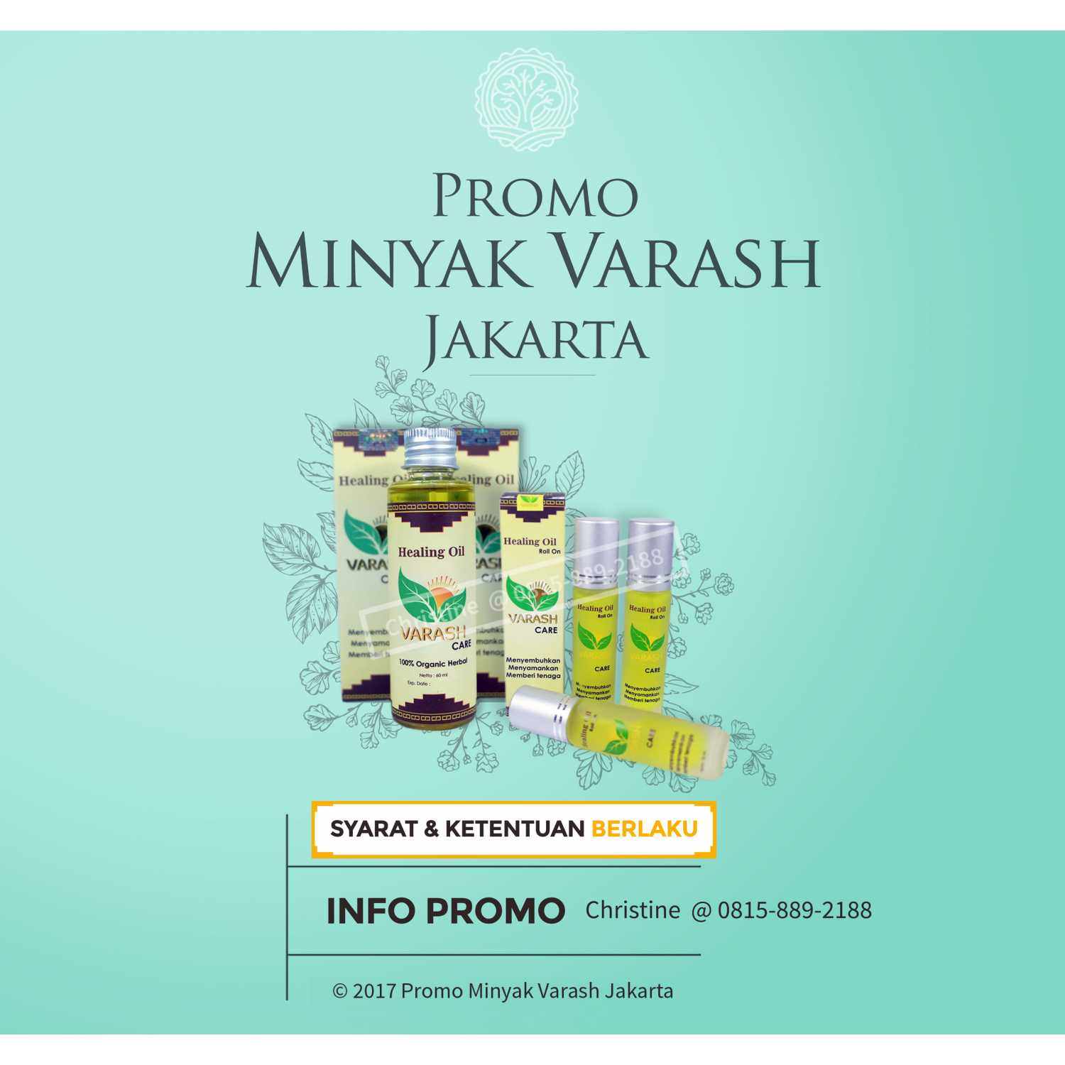 Minyak Varash Jakarta Classic Angin Herbal Care Roll On