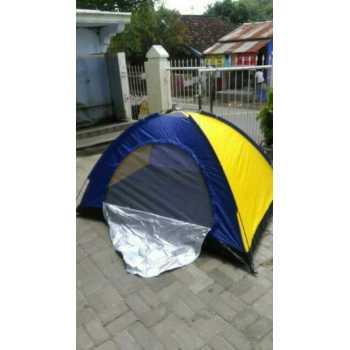 Tenda dome Camping Lipat 4 orang dengan alas tenda