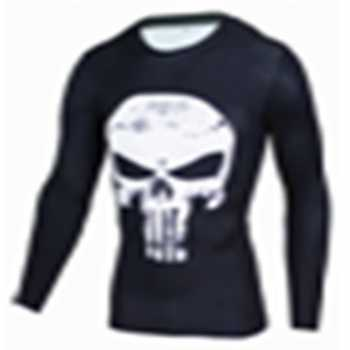 Baju Olahraga Ketat Pria Crossfit MMA Compression Shirt Long Sleeve