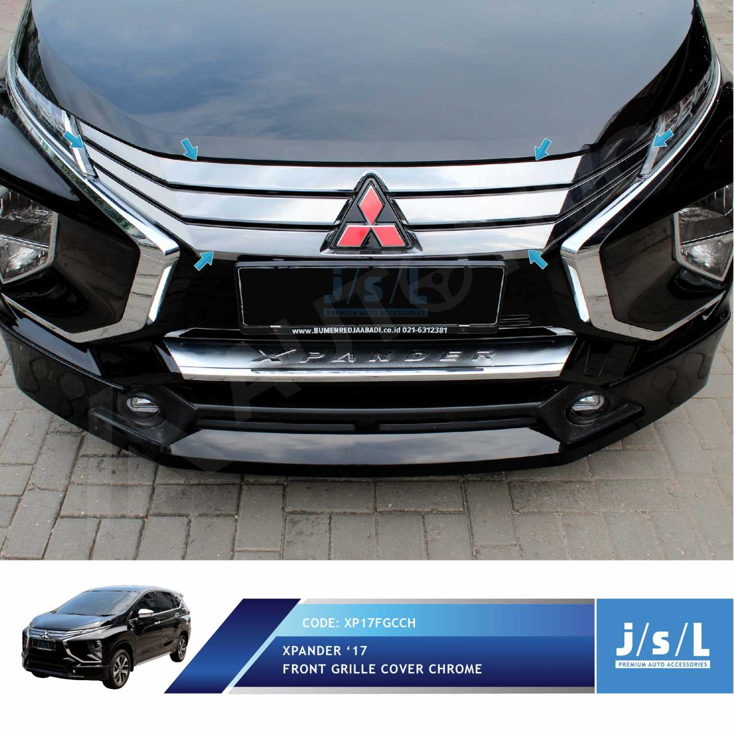 Jual Xpander Grill Depan Cover Krom JSL Front Grille Cover Chrome | Jakmall.com