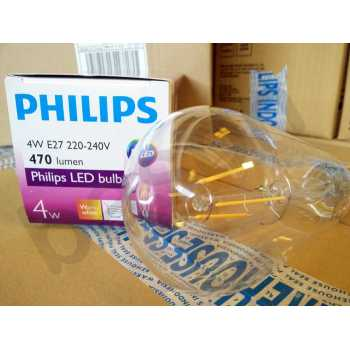 Lampu Led Classic Hannochs edison filament Pijar Cahaya Kuning. Source · Philips LED Classic 4W E27 ST64 - Decorative LED