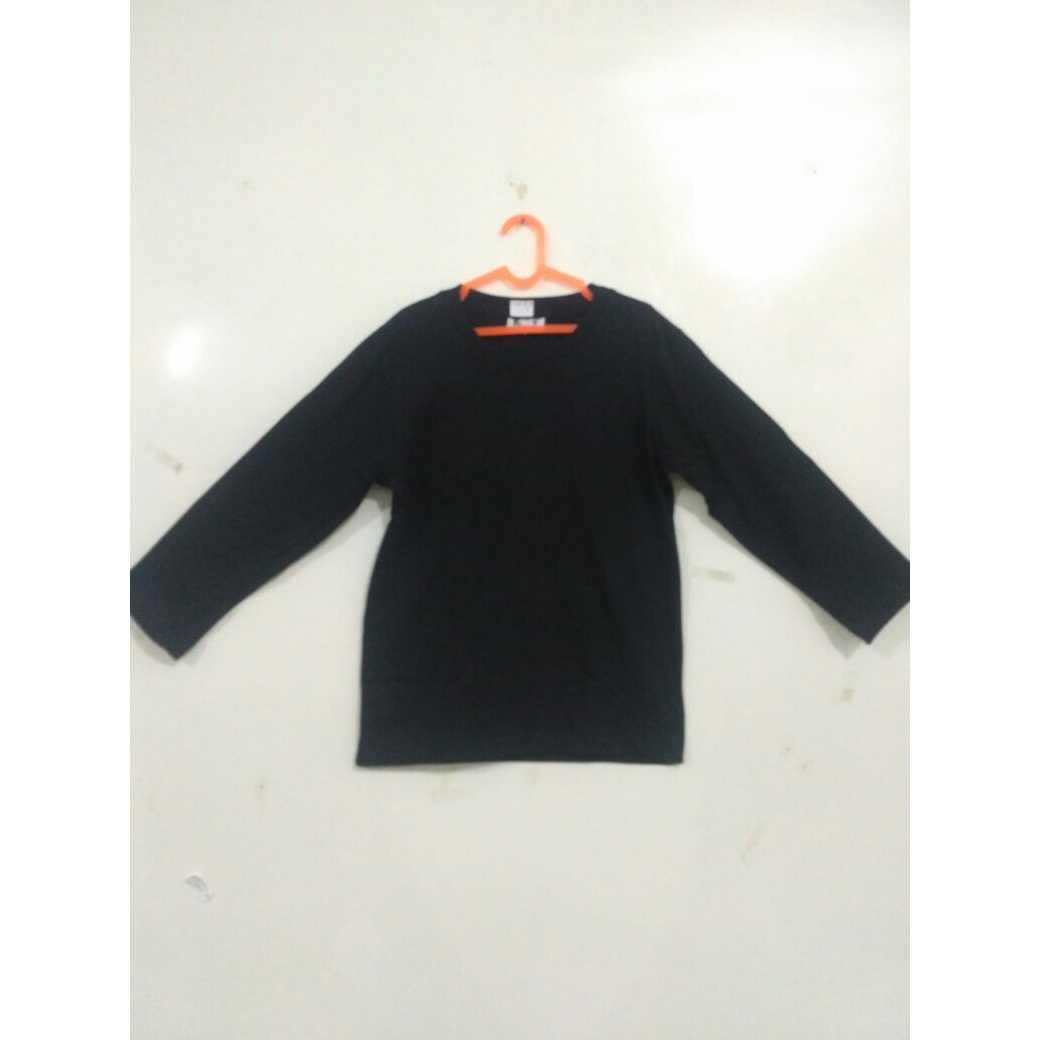 Jual Kaos Polos Cotton Anak Lengan Panjang Murah Bahan Carded Tangan