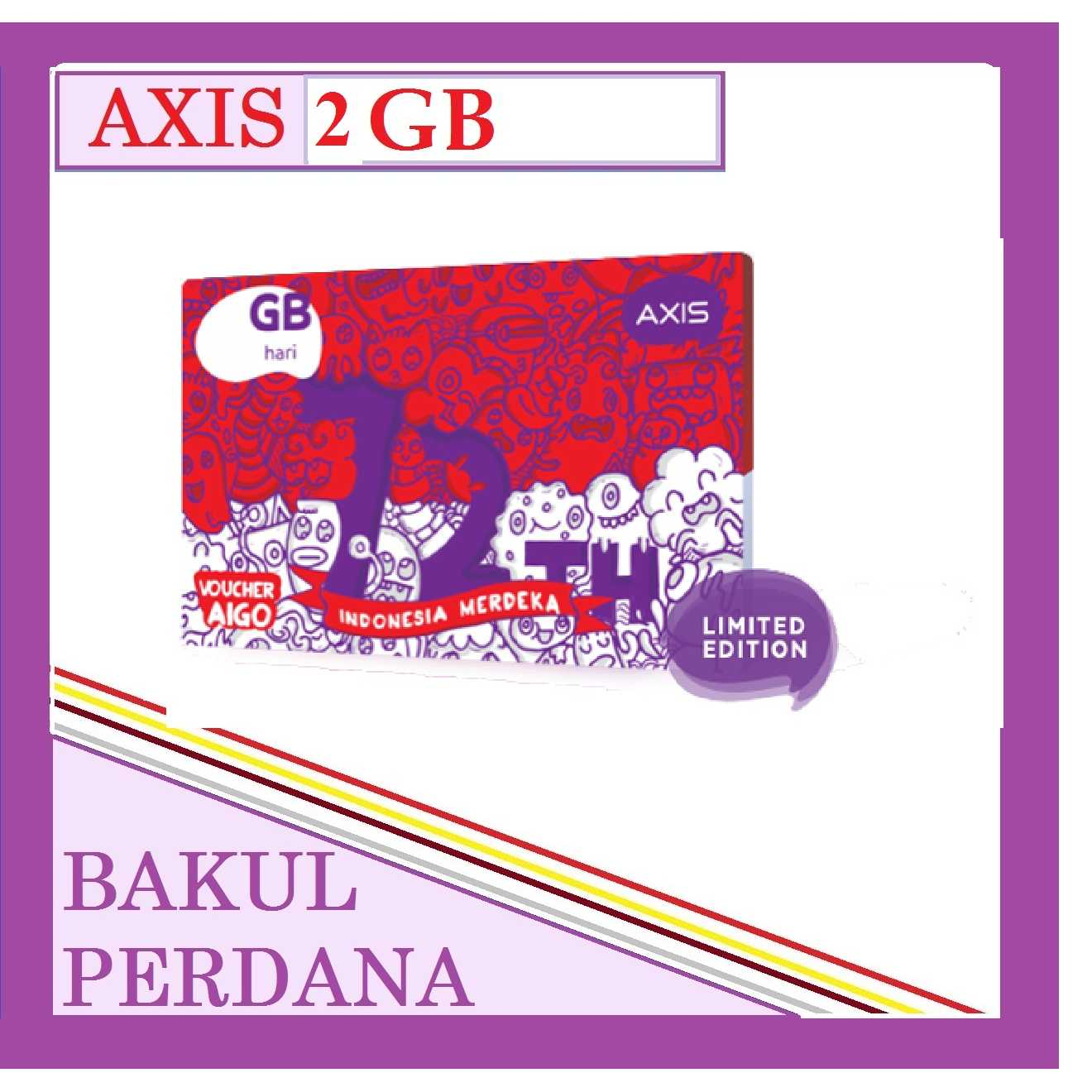 Jual Voucher Axis Aigo 2 Gb Perdana Axiss