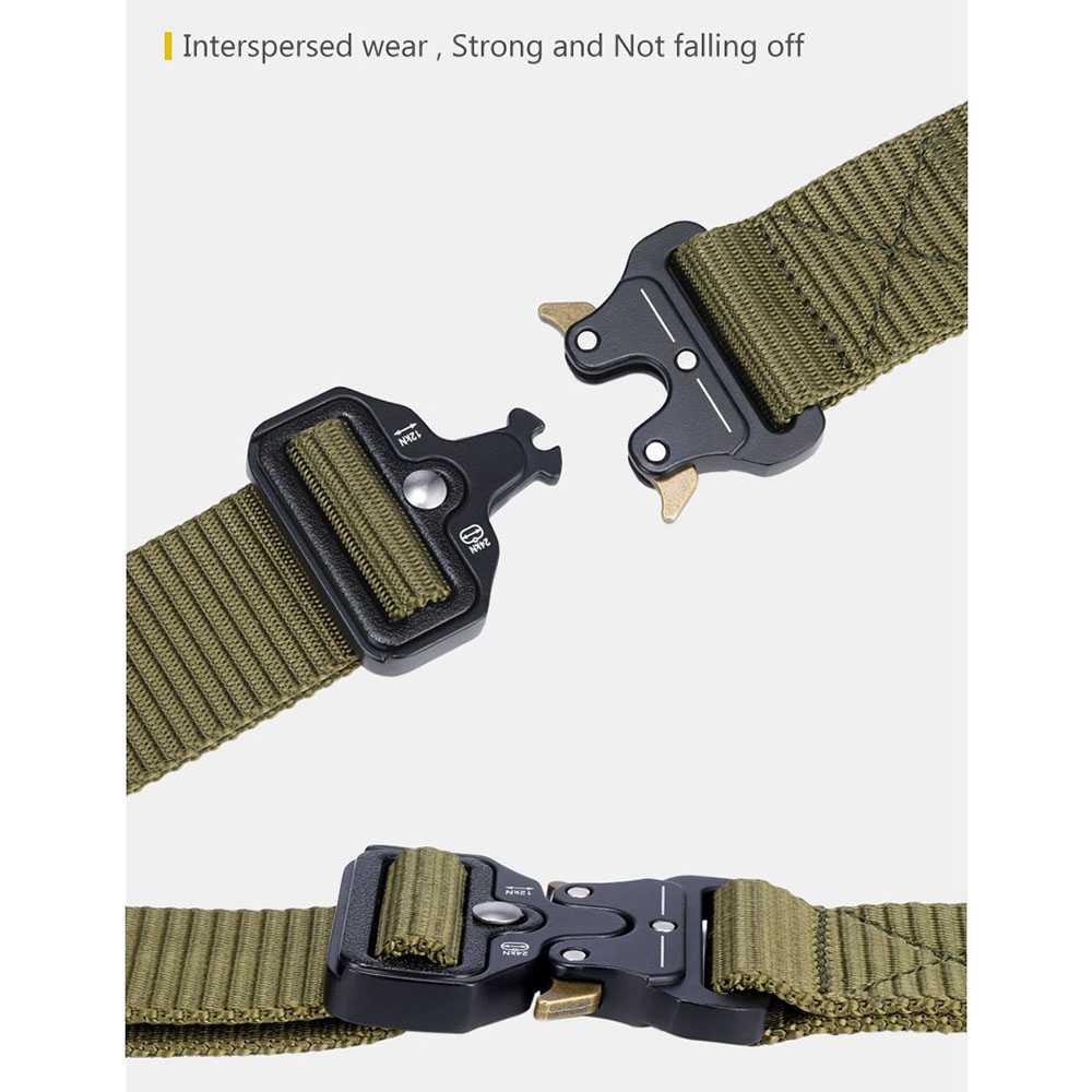 Tali Ikat Pinggang Canvas Military Tactical 125cm
