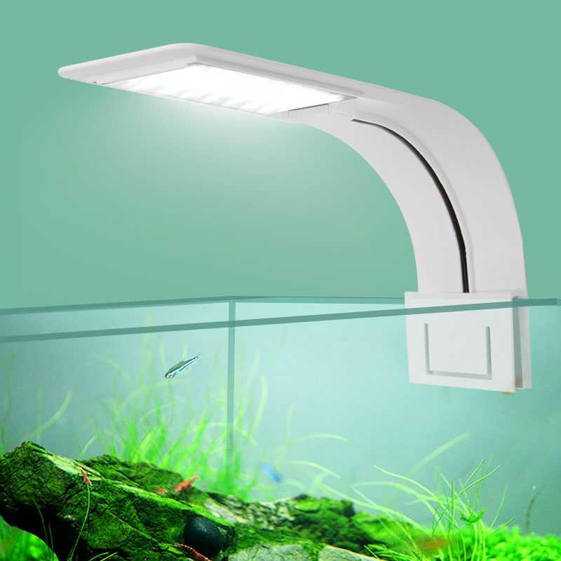 Lampu Aquarium LED Light Super Slim Clip On 10W