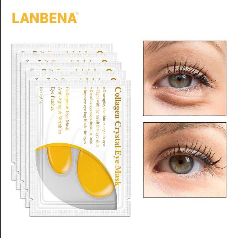 Jual LANBENA Masker Mata Collagen 24K Gold Eye Mask 1 PCS .