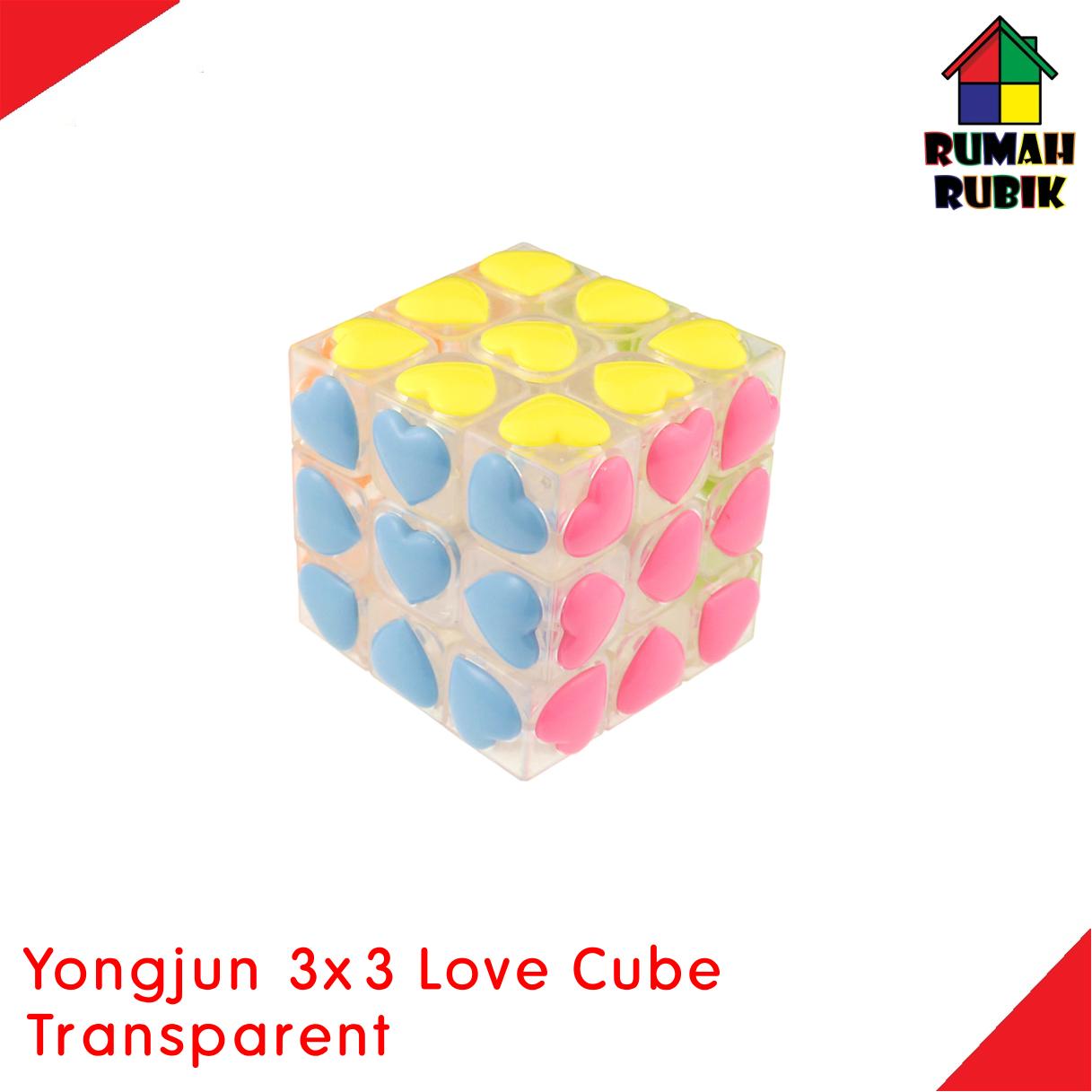 Jual Rubik 3x3 Yongjun Love Cube Transparent Murah