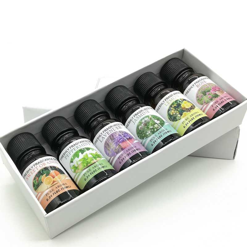 Minyak Aromatherapy 6 in 1 10ml Pure Aroma Essential Oil
