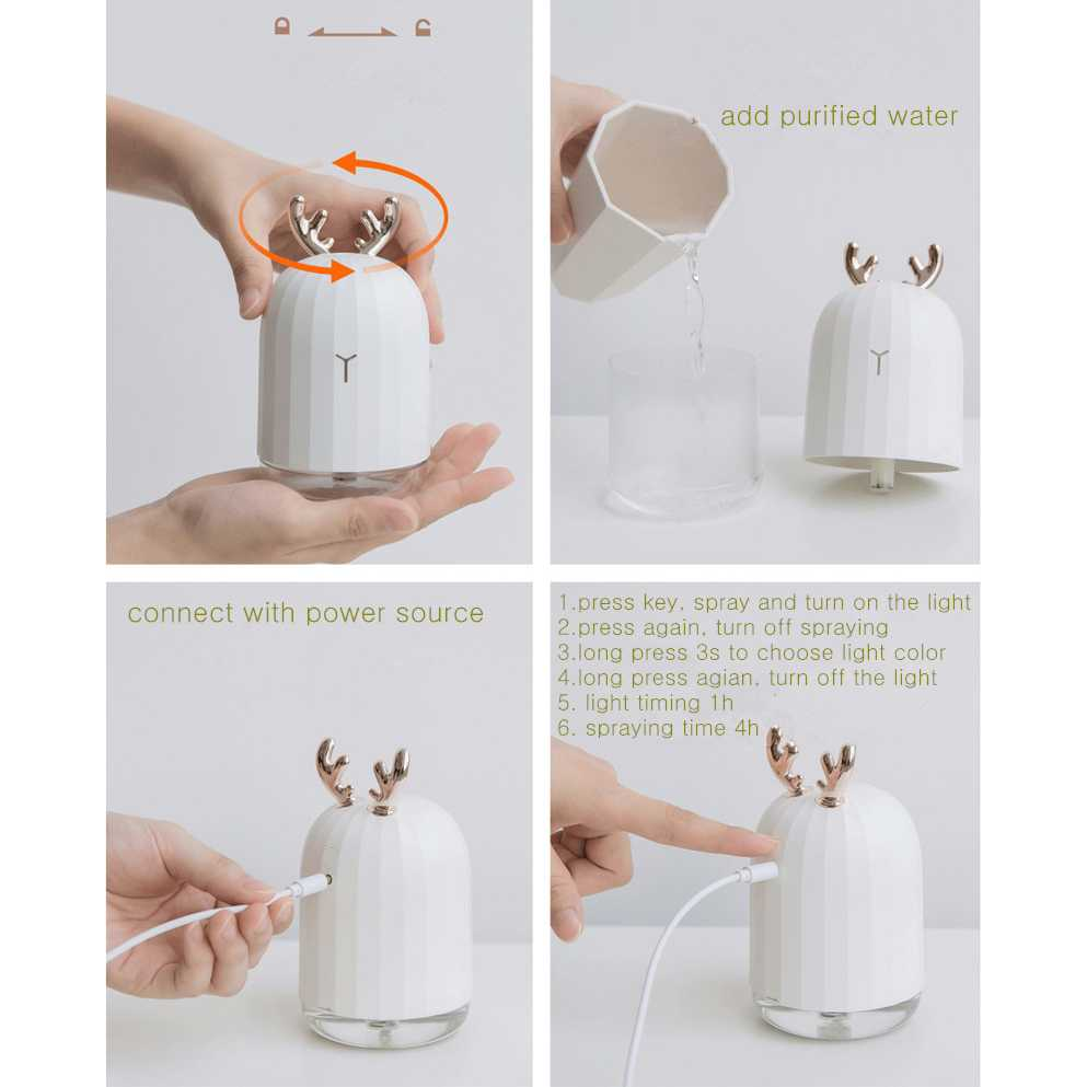 Pelembab Udara Aromatherapy 220ml 3Life Air Humidifier