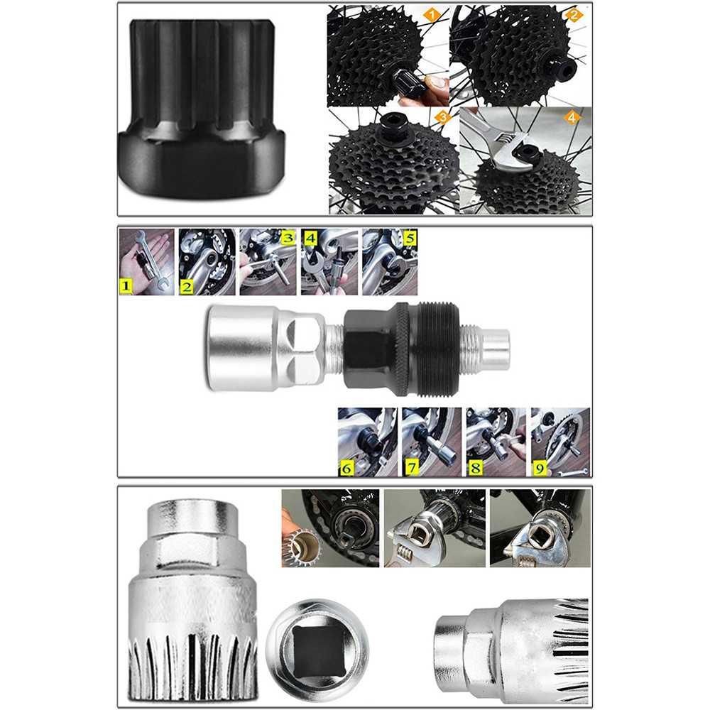 5in1 Perlengkapan Reparasi Rantai Sepeda Bicycle Chain Socket Tool