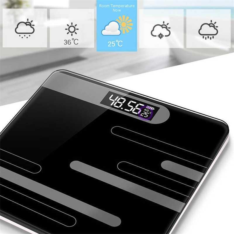 Timbangan Badan Digital + Temperature USB Rechargeable