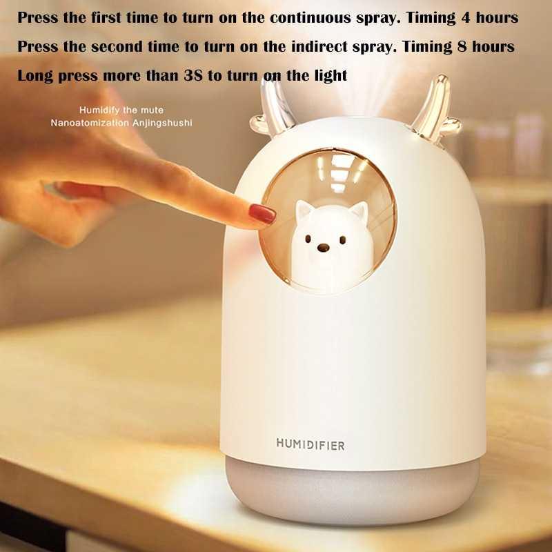 Air Humidifier Ultrasonic RGB Pet Design 300ml