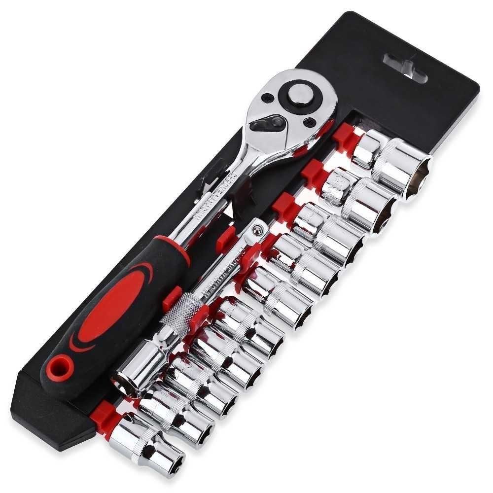 Kunci Pas CR-V Drive Socket Wrench Set 1/4 Handle 12 PCS