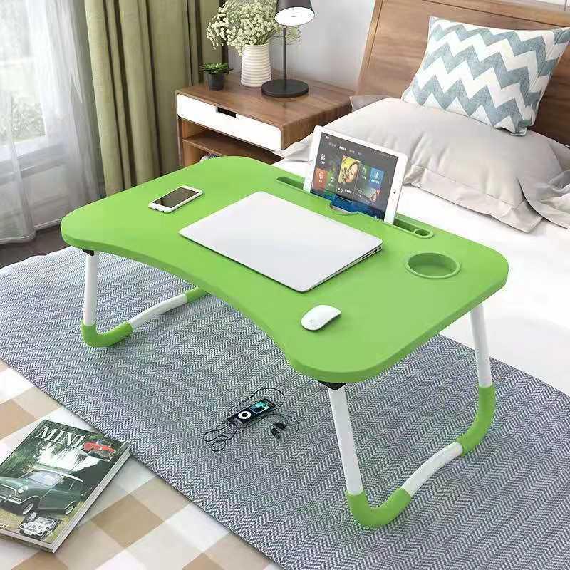 Meja Belajar Laptop Lipat Portable Desk with Bottle Hole