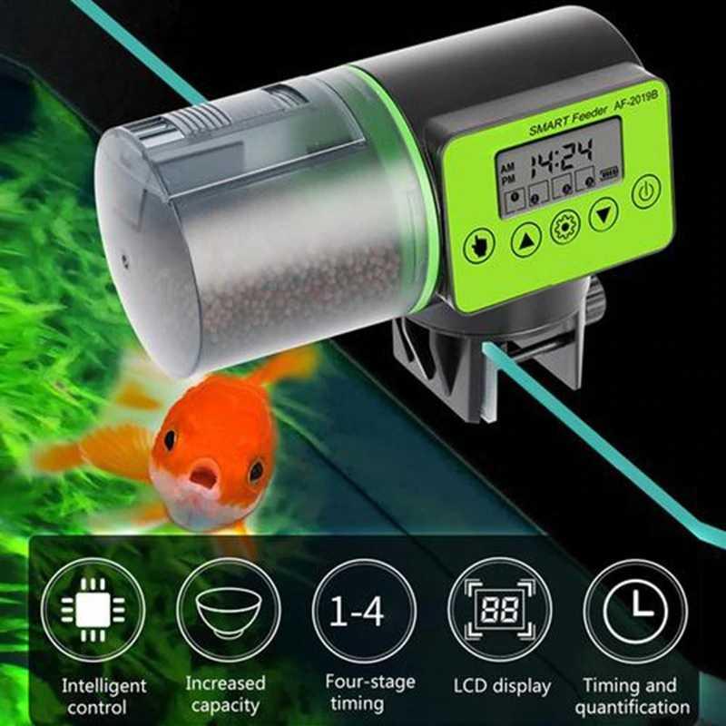 Dispenser Makanan Ikan Aquarium Otomatis Dengan LCD Display