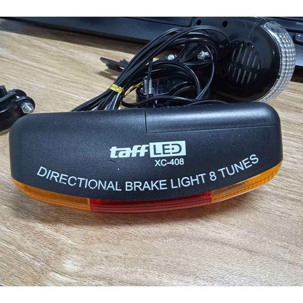 Lampu Sepeda Rem Sein Kiri Kanan 7 LED Klakson