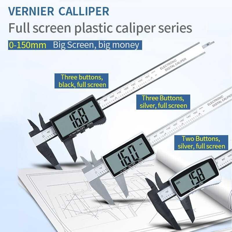 Jangka Sorong Digital LCD Vernier Caliper 3 Buttons 15CM