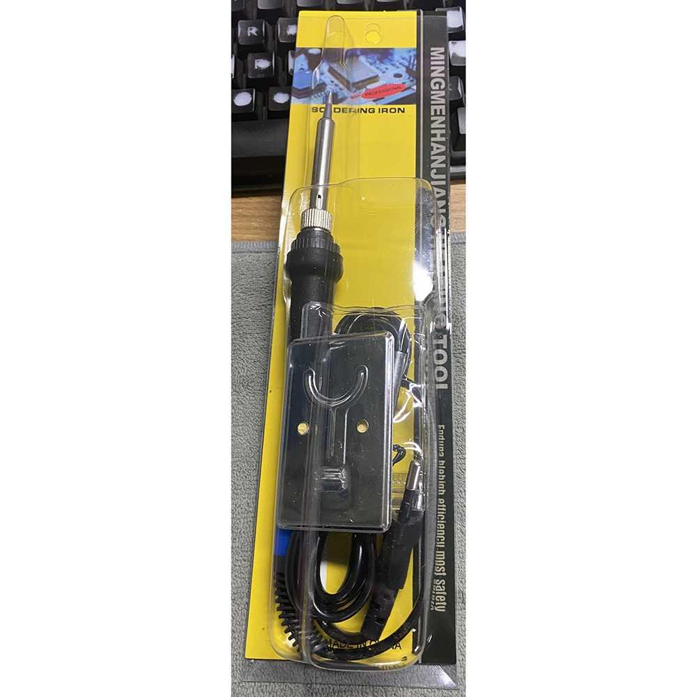 Solder Iron Adjustable Temperature 60W Plus 5 Tips Mata Solder