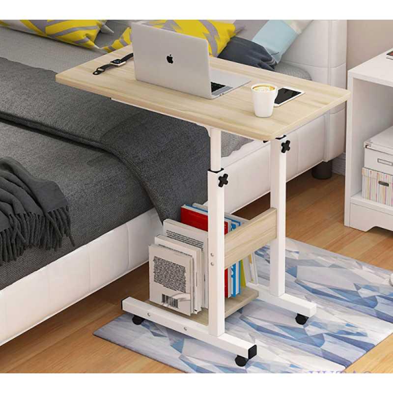 Meja Rak Laptop Adjustable Portable Desk with 1 Rack