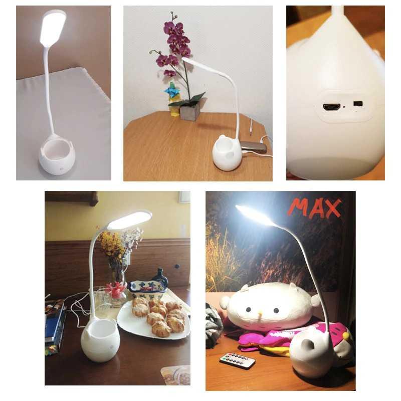Lampu LED Baca Meja Rechargeable Model Tempat Pensil