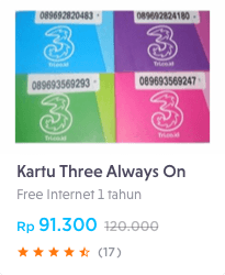 kartu internet three
