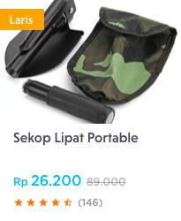 sekop lipat portable