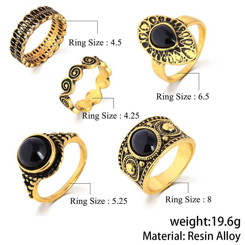 Cincin Midi Ring Turkish Vintage 5 Set